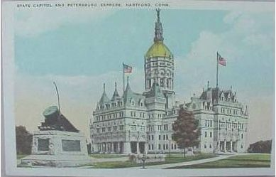 The Civil War monument in front of the state capitol was erected at the time of the convention in 1902.