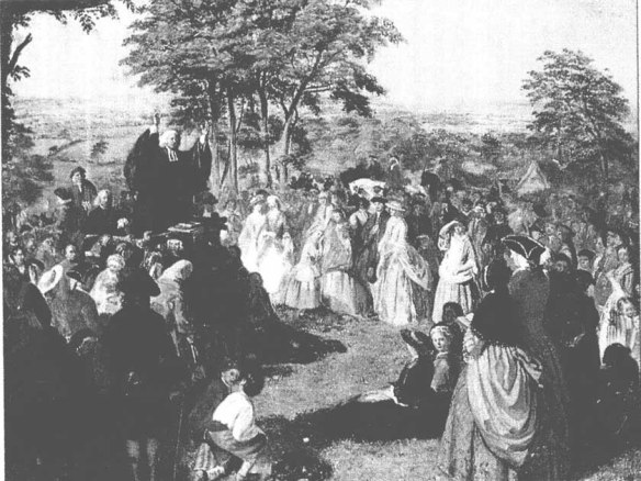 Another image of Whitefield preaching.