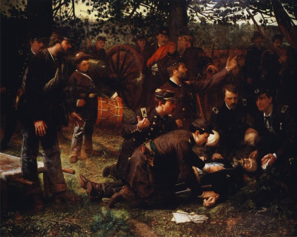"""The Death of General Sedgwick, Spotsylvania, May 9, 1864"" by Julian Scott."