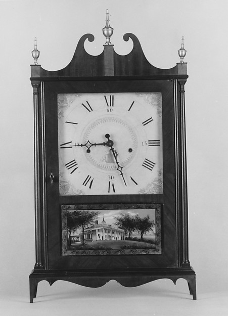 A Seth Thomas shelf clock, c. 1820.  Courtesy Metropolitan Museum of Art.