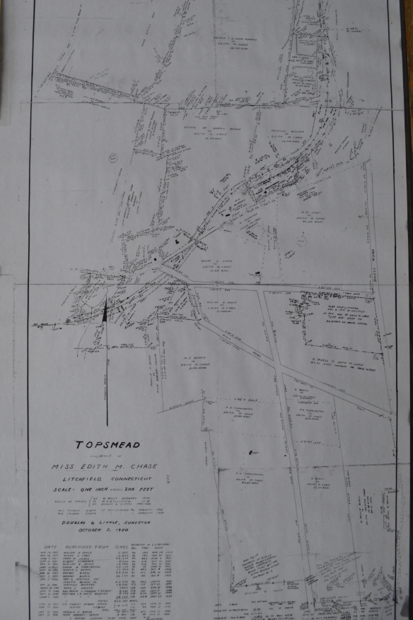 Property map of Topsmead, displayed at the site.