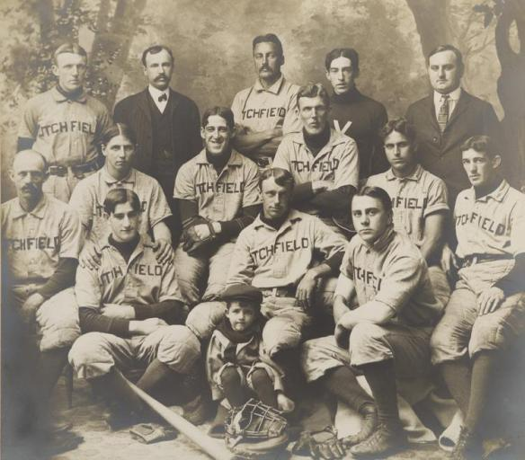 An early Litchfield baseball team. (Courtesy of the Litchfield Historical Society)