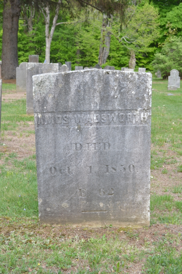 The grave of Amos Wadsworth, father of Louis Fenn Wadsworth, in Litchfield's East Cemetery.