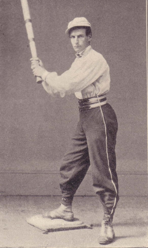 A baseball player, c. 1860.