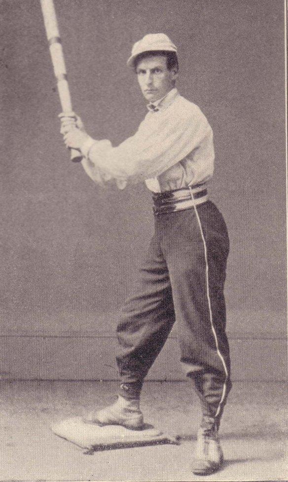A baseball player, c. 1860.