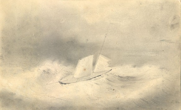 The U.S.S. Sea Gull, in distress of Cape Horn