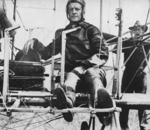 Foulois in the cockpit.
